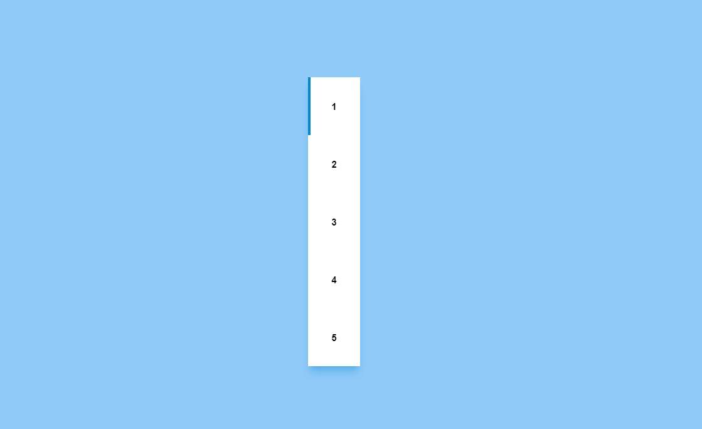 HTML CSS Line Follow Vertical Pagination