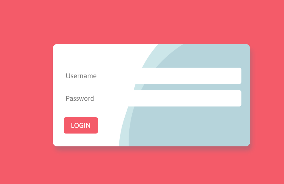 Login Form with Vertical Wave Animation Effect