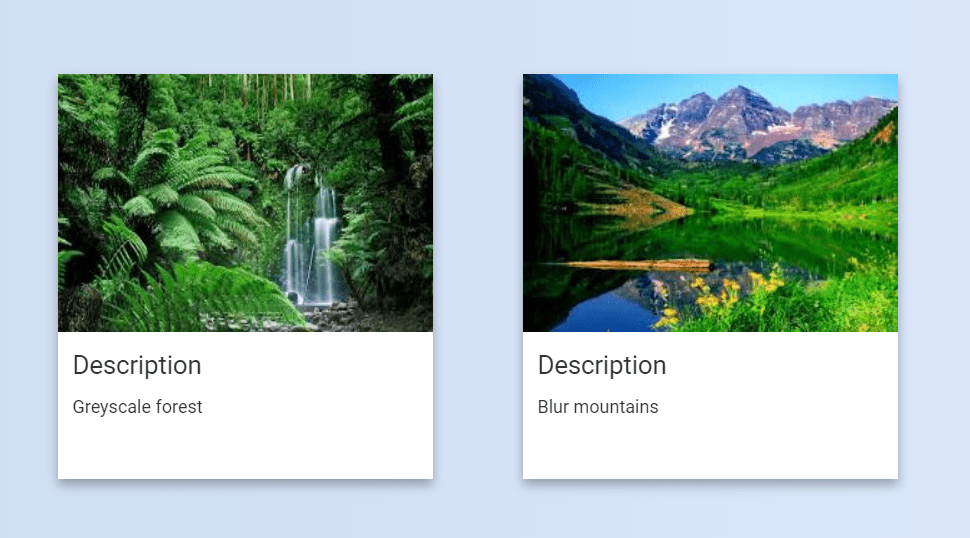 Material Design Cards with HTML And CSS