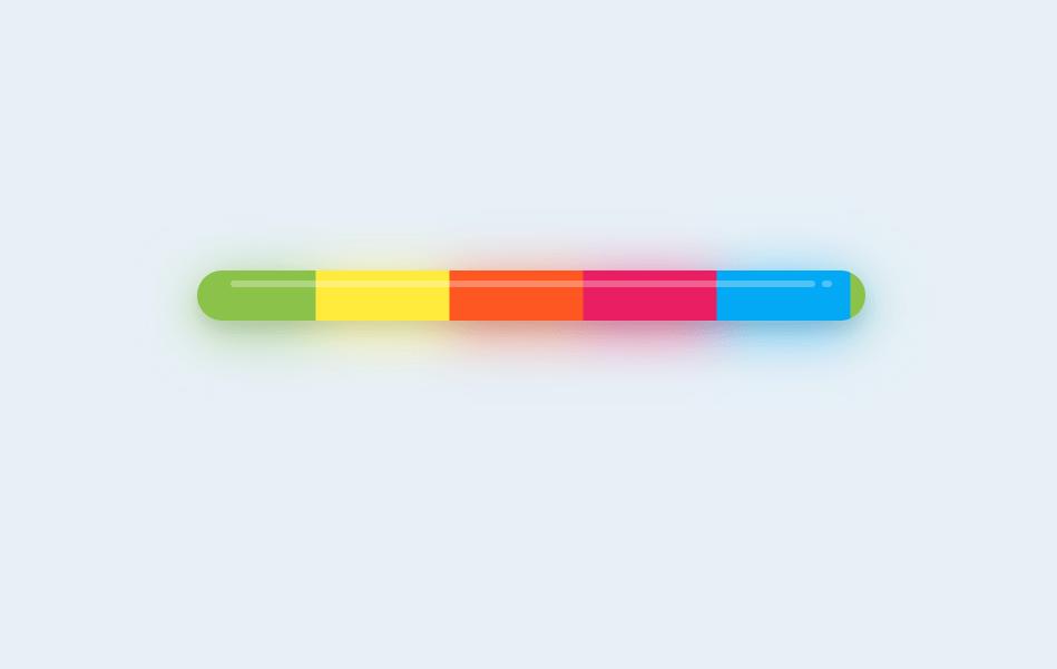 Multi Color Material Design CSS Light Progress Bar