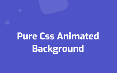 Pure CSS Animated Background Down to Upside