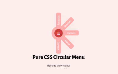 Pure CSS Circular Menu Icon with Hover Effect