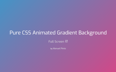 Pure CSS Gradient Background Animation Code Snippet