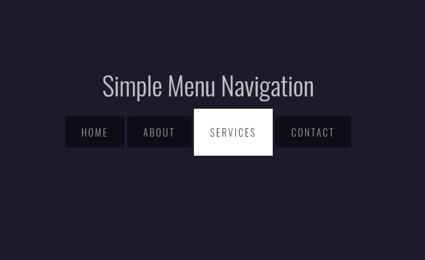 Simple Horizontal Menu Navigation with HTML and CSS