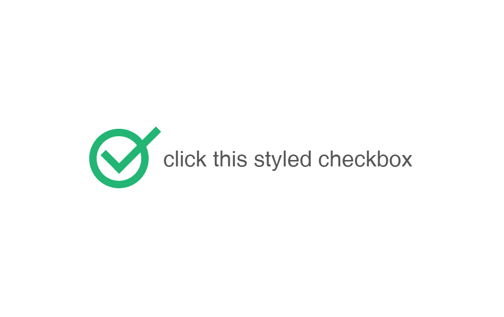 Simple Tick Styled Animated Checkbox with CSS and HTML