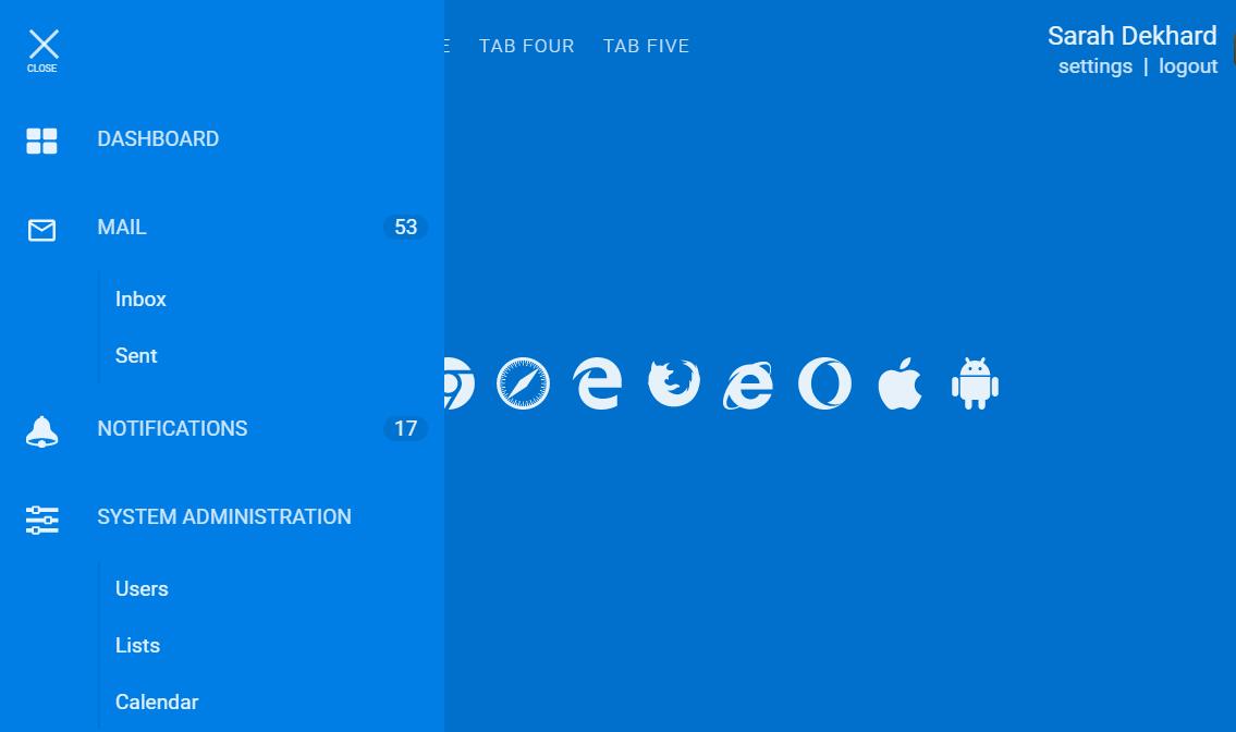Slide Menu CSS Transparency Awesome Design