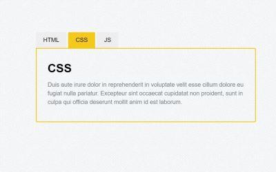 Tabs CSS Design with Input Radio