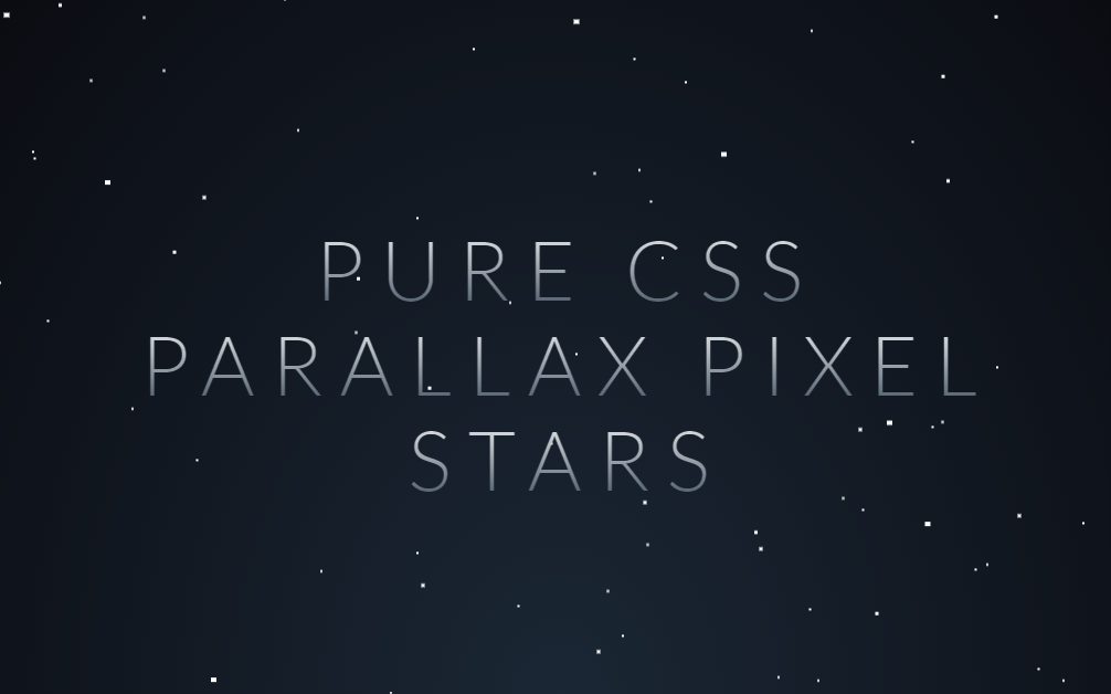 Very Simple Parallax Star Background CSS Animation