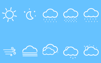 Animated Weather Forecast CSS Icons