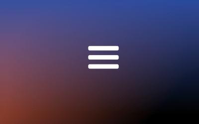 CSS Hamburger Navigation Menu Toggle Icon