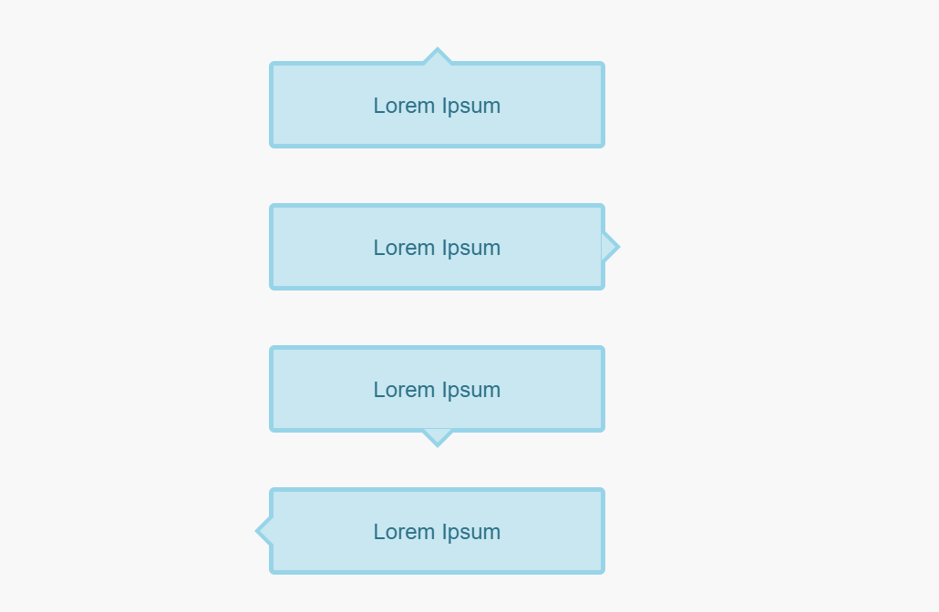 CSS Only Box Arrow Mixin With Borders