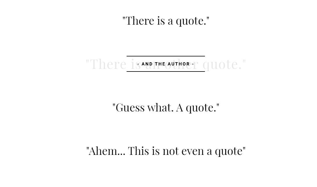 CSS Quote Hover Animation Inspiration