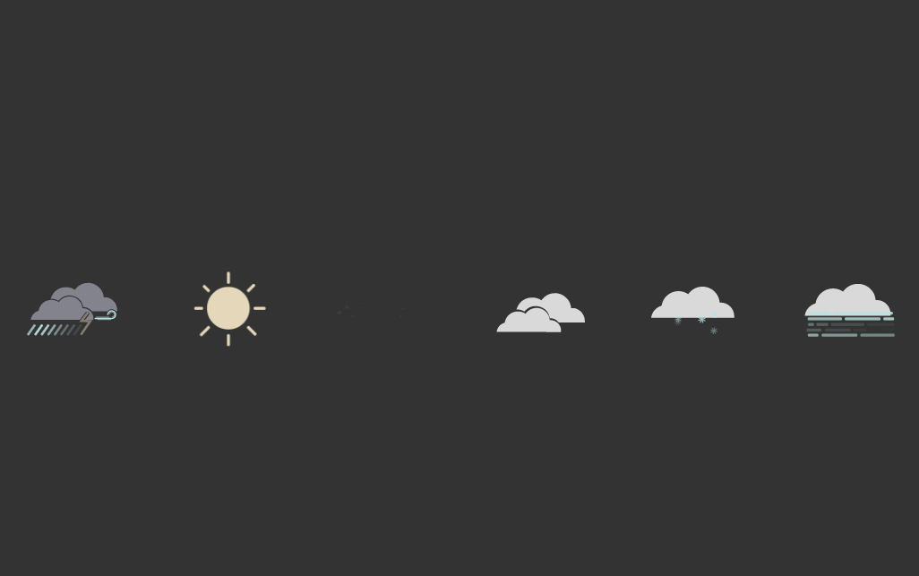 CSS Website Weather Icon SVG