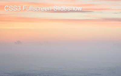 CSS3 Fullscreen Background Slider