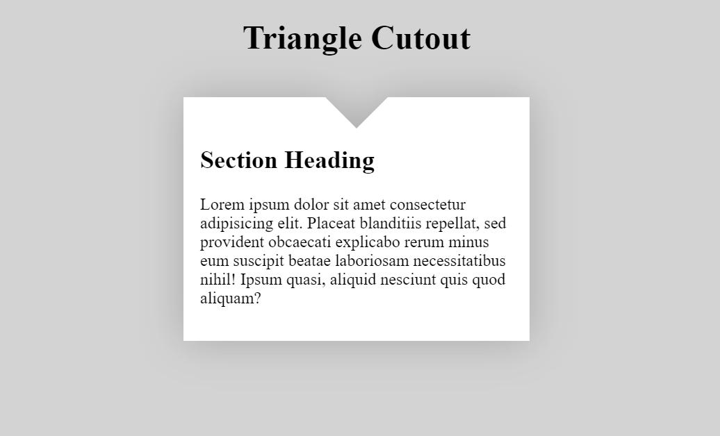 CSS3 Triangle Cutout Via Pseudo Elements