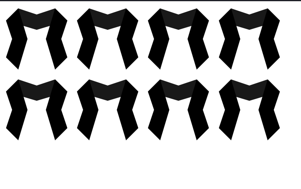Design M Style Ribbon Logo with CSS
