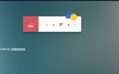 Environment Weather Widget CSS Graphic Design