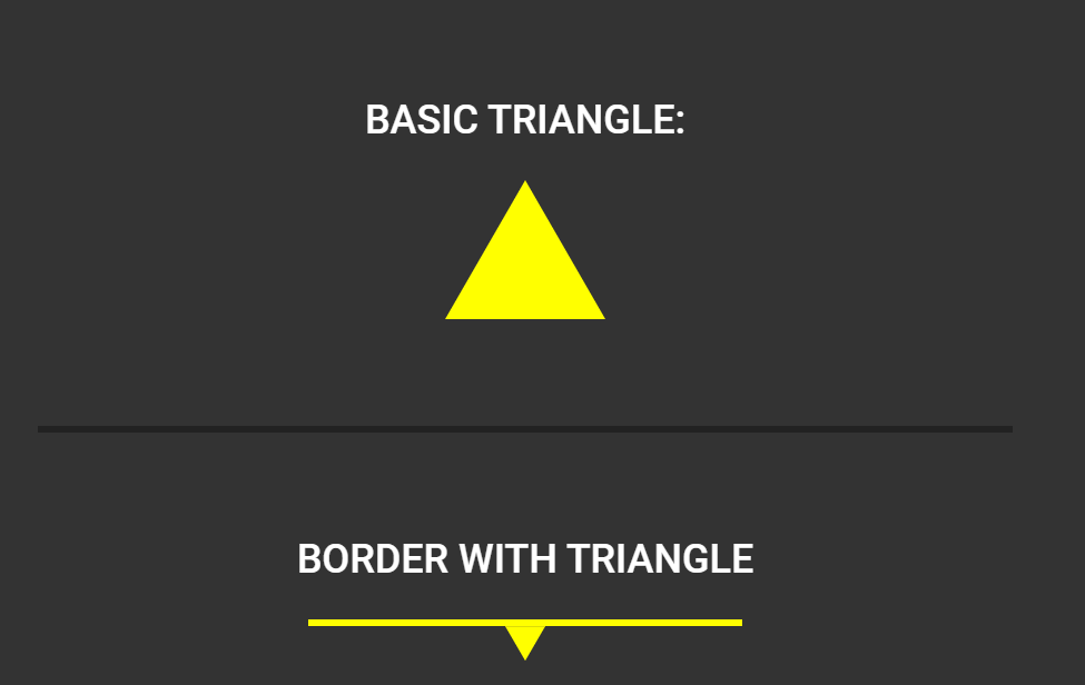 Equilateral CSS Triangle Using Borders