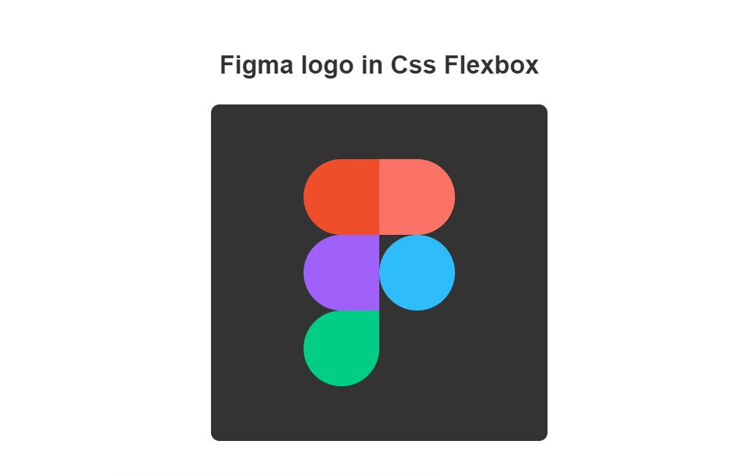 Figma Logo HTML CSS Flexbox