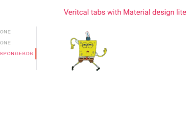 HTML CSS Material Design Vertical Tabs