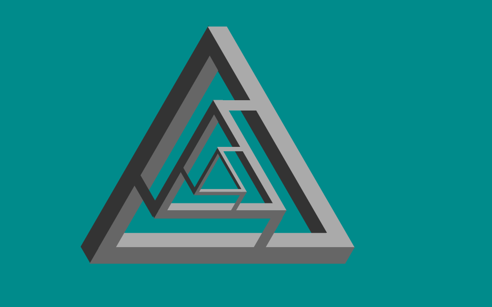 HTML CSS Only Penrose Triangle Example