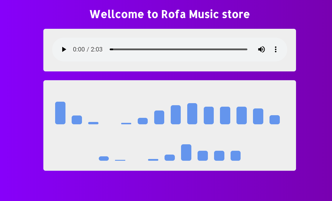 HTML5 Audio Player Music Store CSS Snippet
