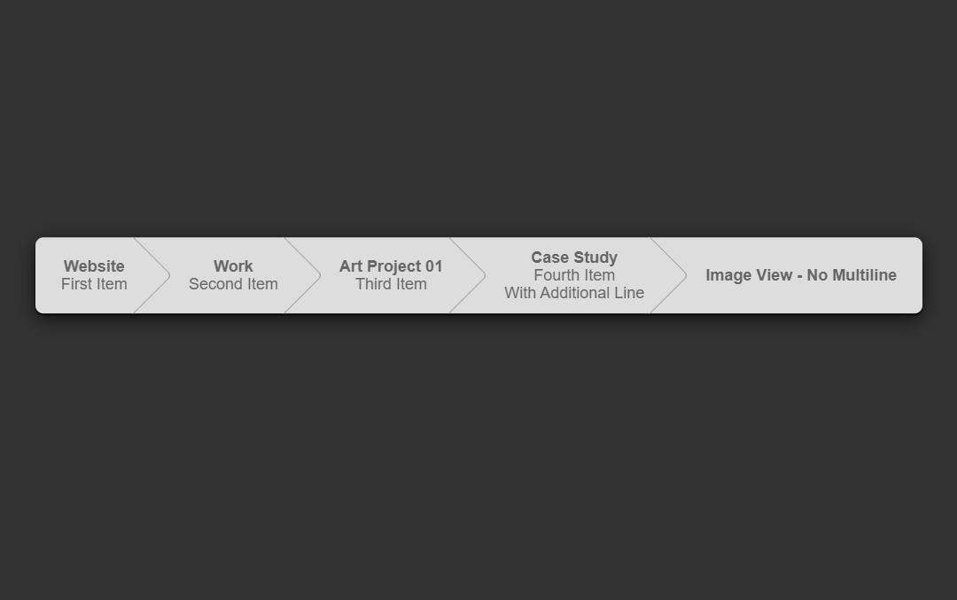 Multi-line Pure CSS Breadcrumb Arrows