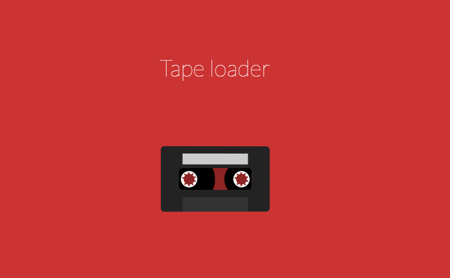 Pure CSS Flat Tape Gear Clock Loader
