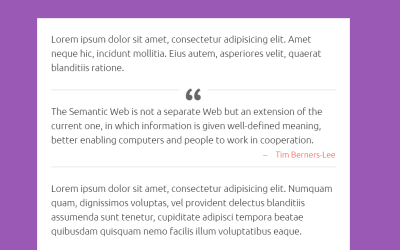 Simple HTML CSS Blockquote Styling