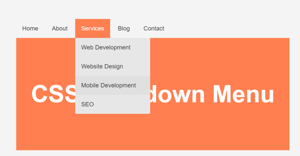 Simple HTML CSS Dropdown Nav Menu with Badges