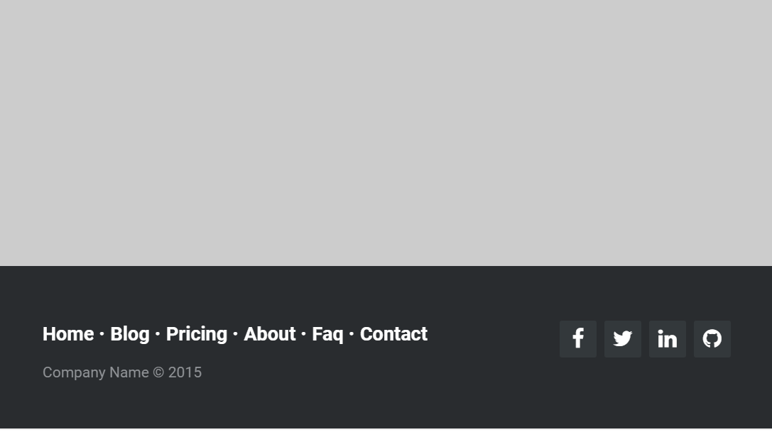 Simple Responsive CSS Footer Example