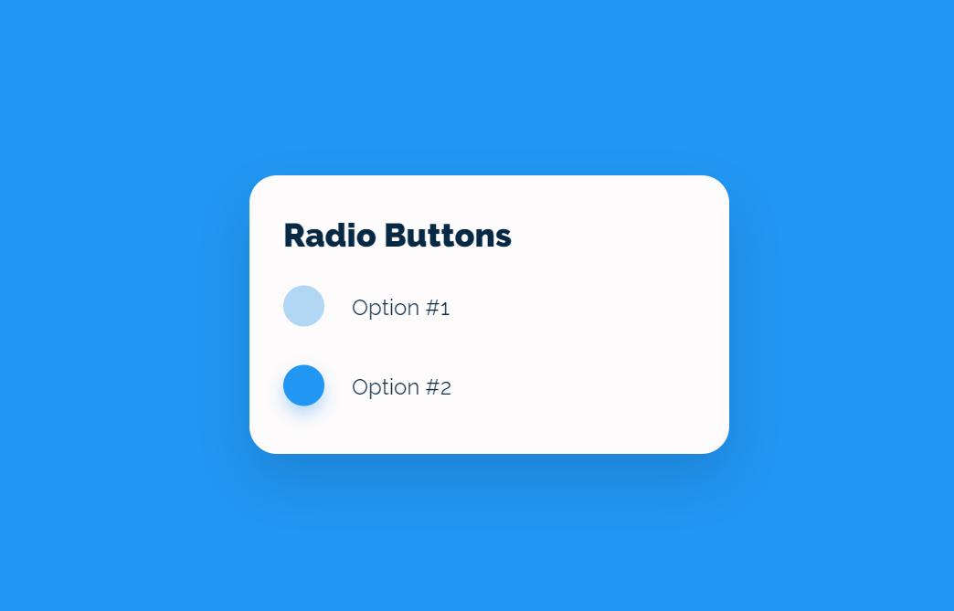 Animated CSS Radio Button Interaction