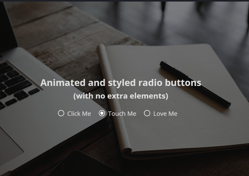 Animated Styled Radio Buttons With HTML And CSS