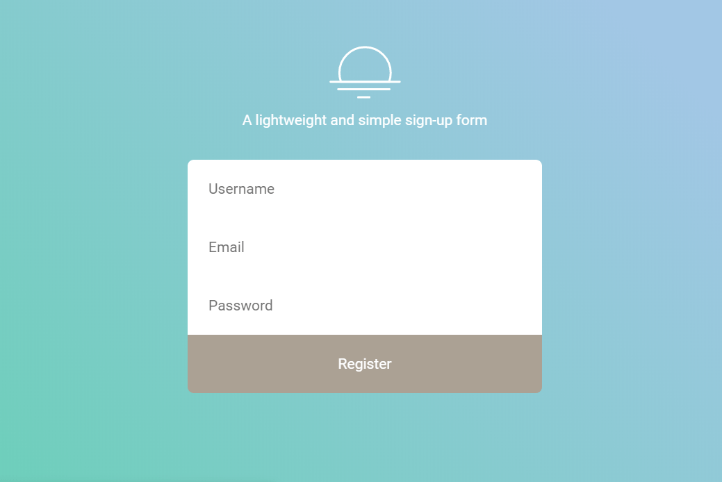 Create User Registration Form In HTML CSS
