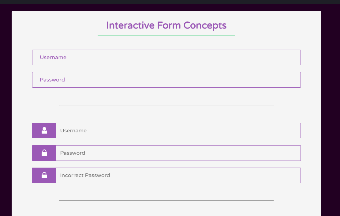 CSS Awesome Interactive Form Concept