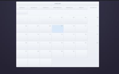 CSS Inline Calendar With Hover Effect