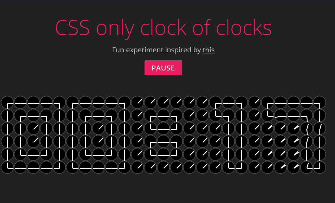 CSS Only Awesome Digital Clock with Source Code