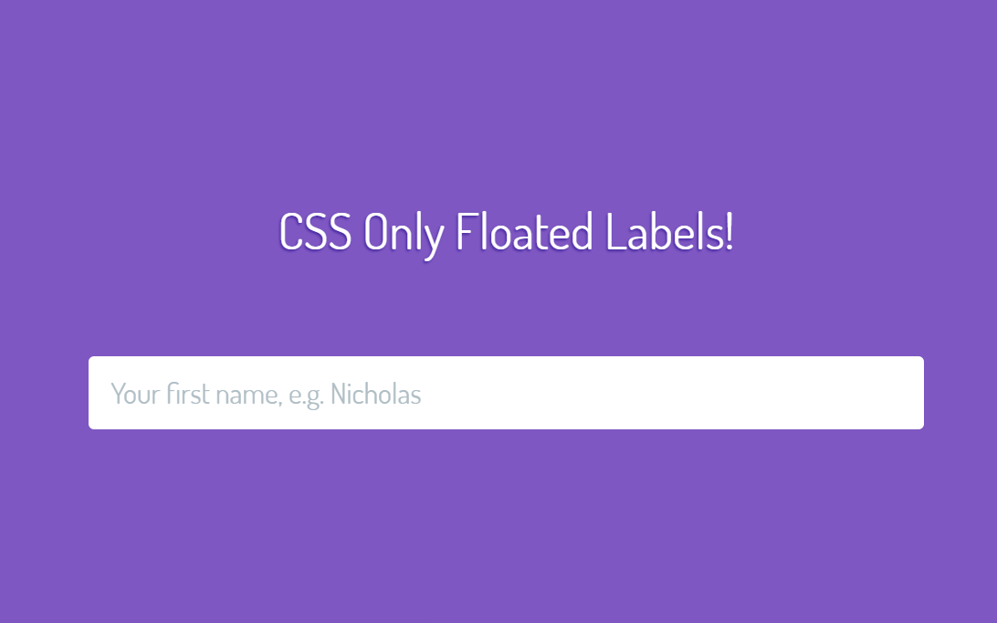 CSS Only Floated Labels UI Pattern Text Area