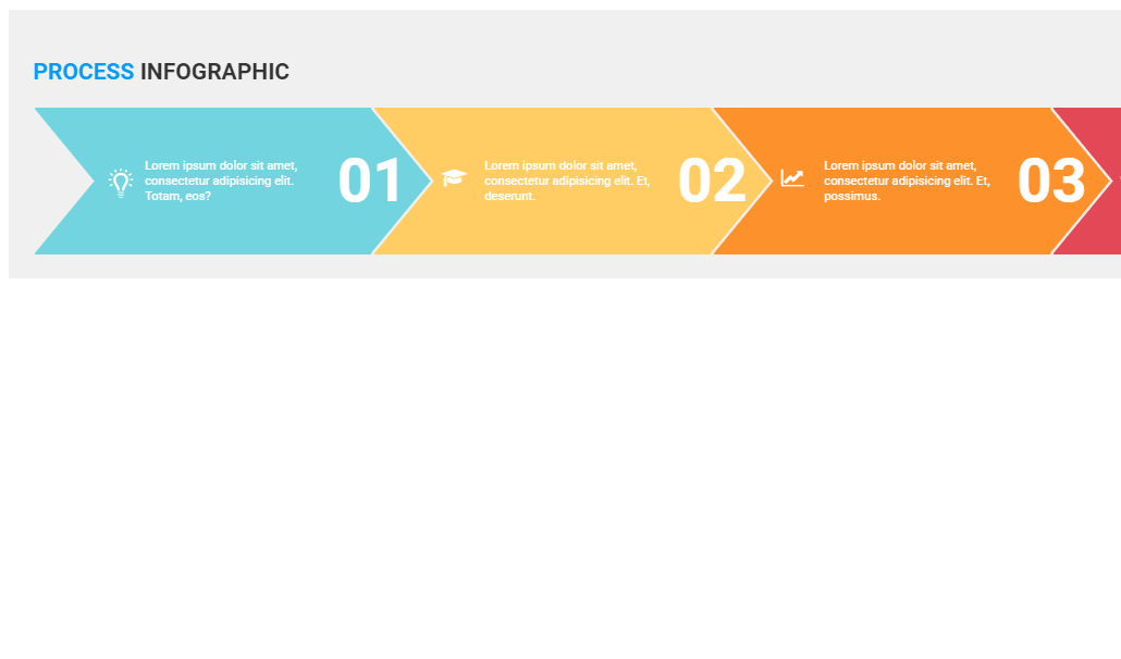 CSS Only Progress Horizontal Infographic Snippet