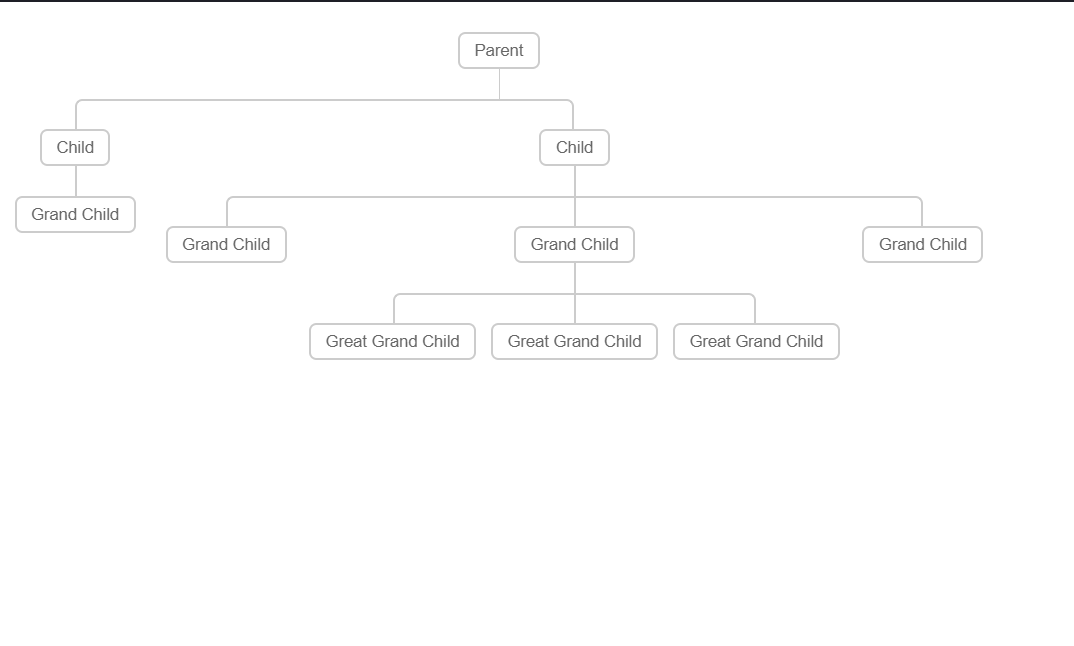 CSS3 Flowchart Navigation Diagram with Hover Effect