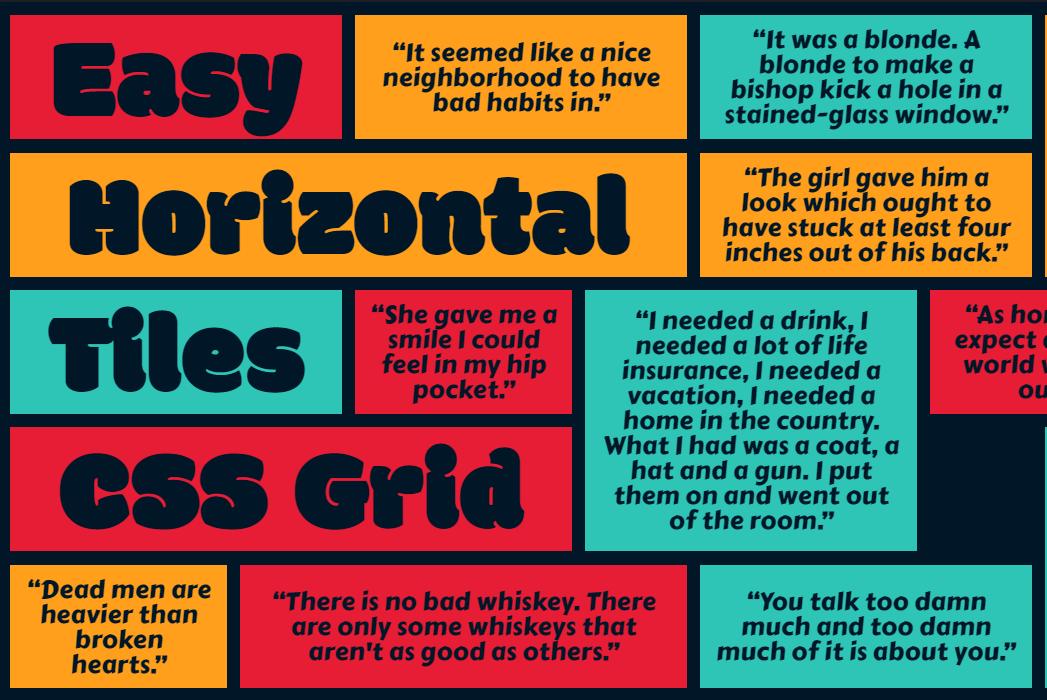 Easy Horizontal Masonry Effect CSS Grid