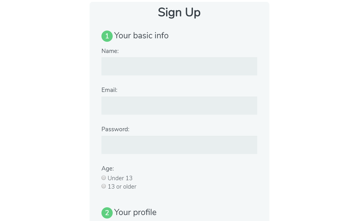 Employee Registration Form In HTML CSS