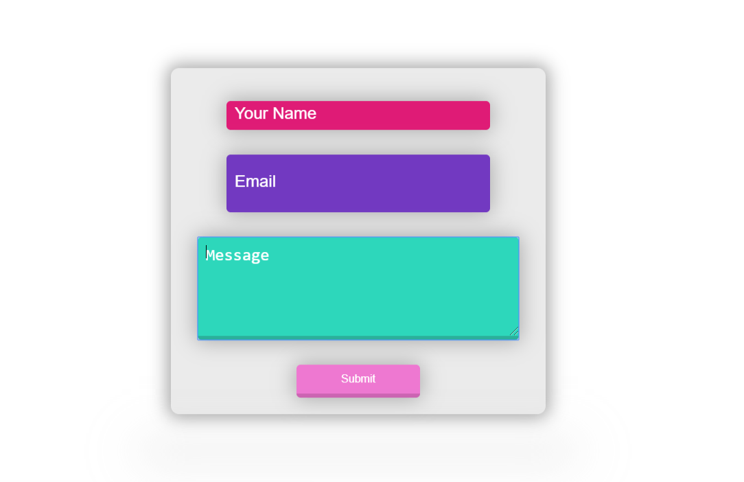 Floating Contact Form CSS Example