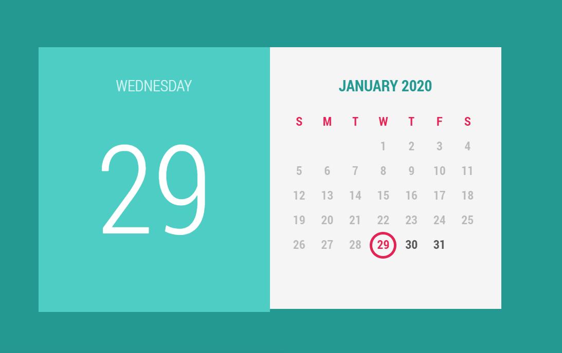 HAML CSS Calendar Input UI Design