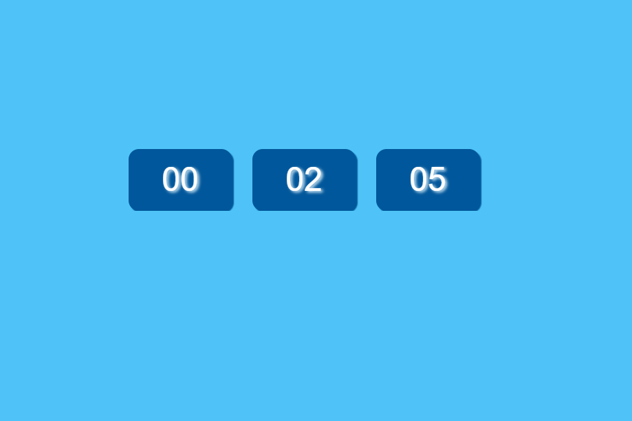 Pure CSS Digital Clock Web Code Snippet