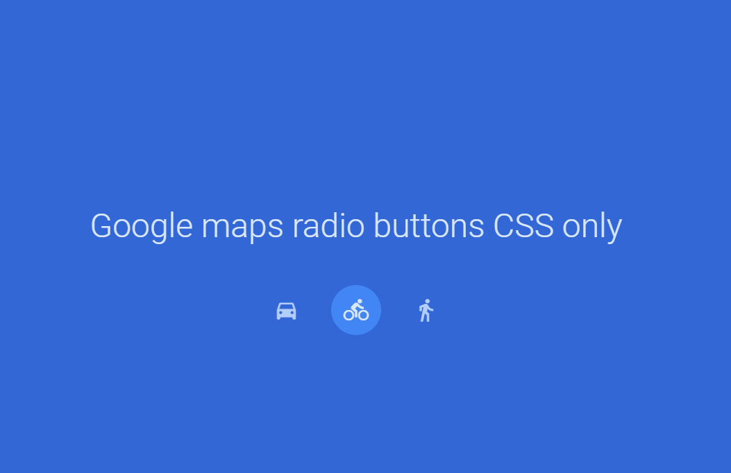 Pure CSS Google Maps Radio Buttons Design