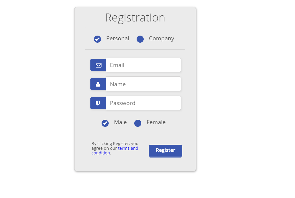 Registration Form Design In HTML And CSS With Code