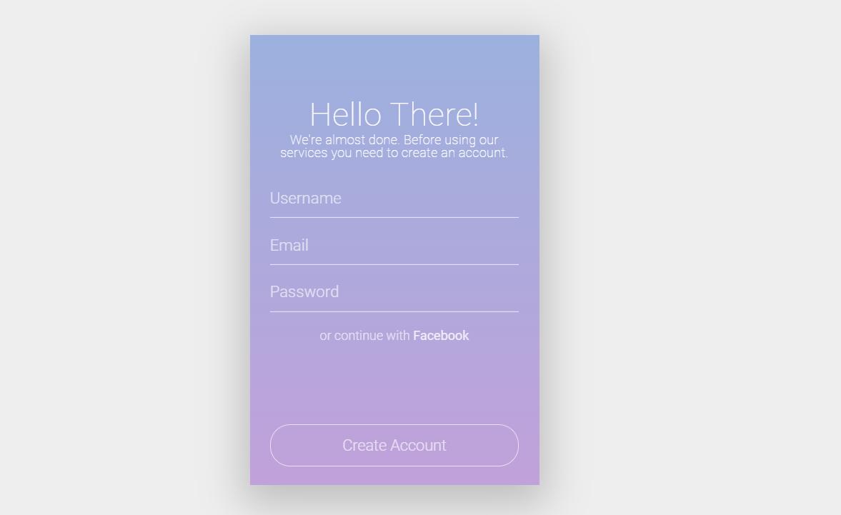 Registration Form HTML CSS Design Concept