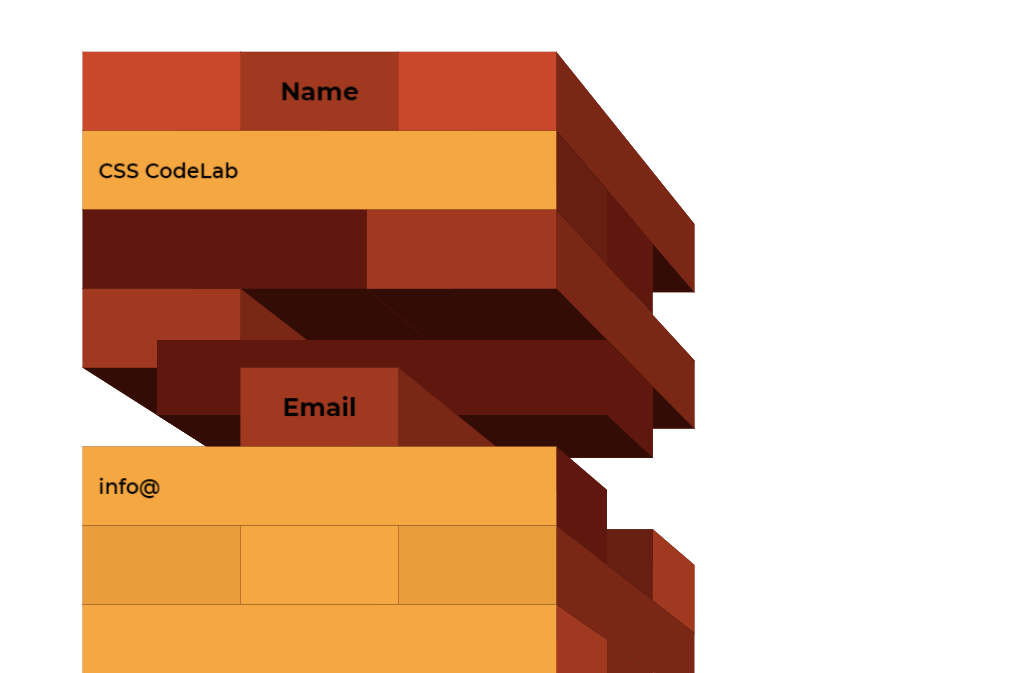 Responsive CSS 3D Contact Form Template