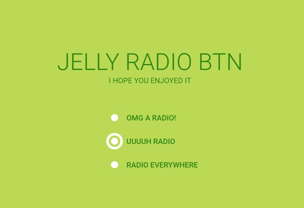 Simple Vanilla CSS Jelly Sticky Radio Button